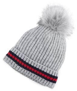 COX, Bommel-Mütze in hellgrau, Mützen & Handschuhe für Damen