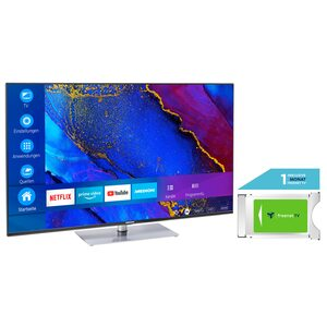 MEDION LIFE® X15061 125,7 cm (50'') Ultra HD Smart-TV + DVB-T 2 HD Modul (1 Monat freenet TV gratis) - ARTIKELSET