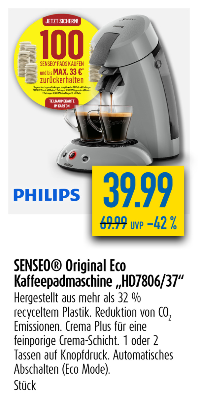 Senseo Original Eco Kaffeepadmaschine