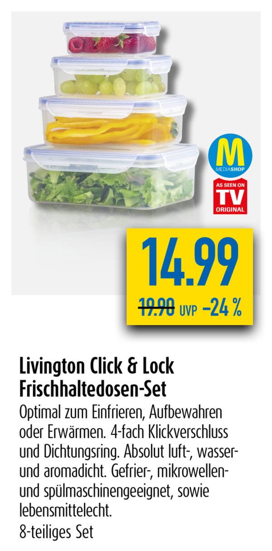 Livington Click&Lock Frischhaltedosen-Set