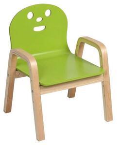 Kinderstuhl in Grün/Naturfarben
