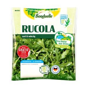 Bonduelle Feldsalat 100 g, Rucola Salat 75 g oder Kopfsalat mit Gartenkräuter 175 g, Kennzeichnung siehe Etikett, jeder Beutel