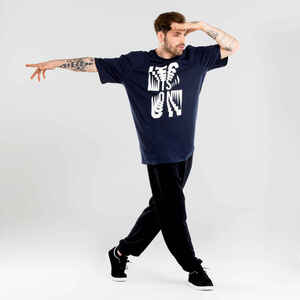 Tanz-Shirt Urban Dance Herren mit Grafikprints marineblau