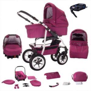 Bellami   ISOFIX Basis & Autositz   4 in 1 Kombi Kinderwagen   Hartgummireifen Kombikinderwagen pink