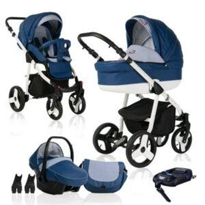 Fizzy   ISOFIX Basis & Autositz   4 in 1 Kombi Kinderwagen   Hartgummireifen Kombikinderwagen dunkelblau