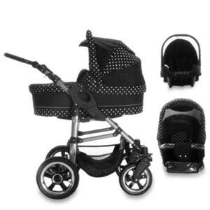 London   3 in 1 Kinderwagen Set   Luftreifen Kombikinderwagen schwarz/grau