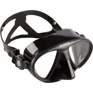 Tauchmaske Freediving SPF 900 kleines Volumen schwarz