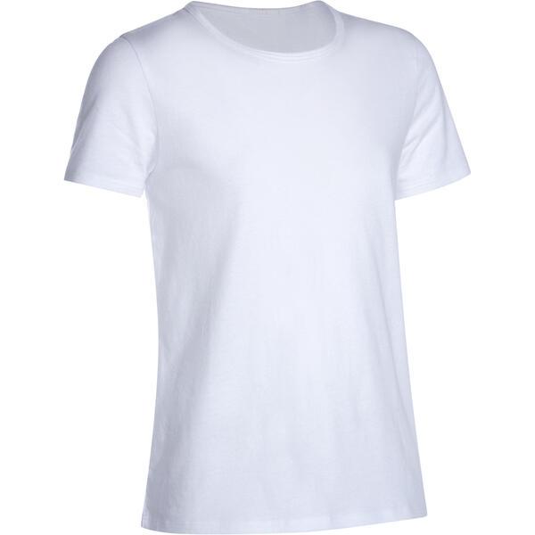 T-Shirt 100 Gym Kinder weiss
