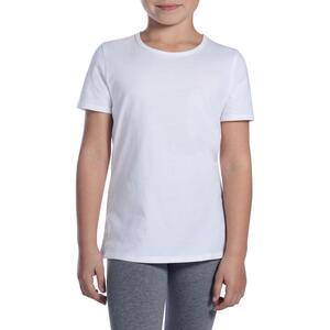 T-Shirt 100 Gym Kinder weiß