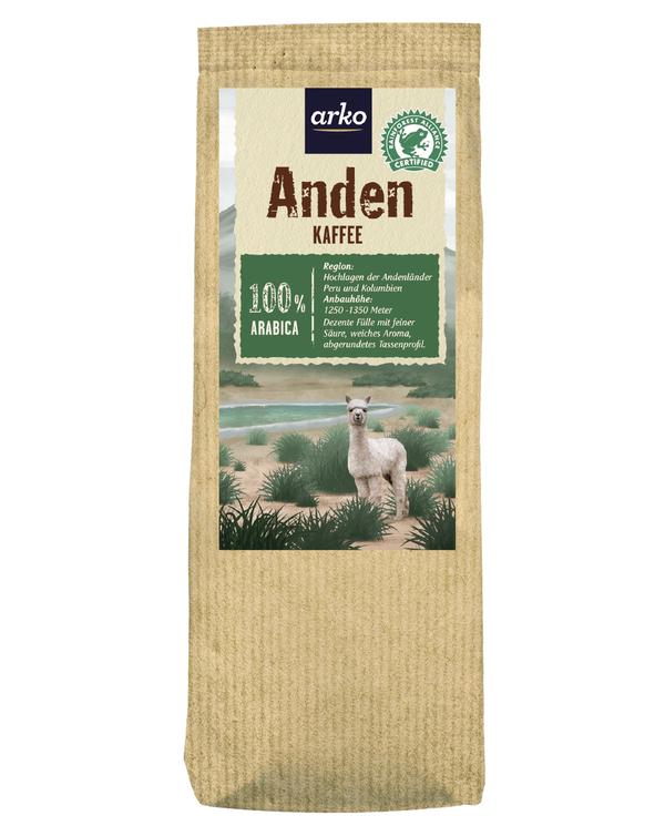 Ursprungskaffee Anden von arko, 250g Bohnen