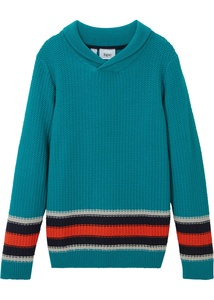 Jungen Pullover mit Schalkragen