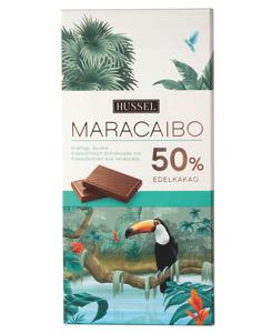 Tafel - Ursprung Maracaibo Edelvollmilch-Schokolade von Hussel, 100 g