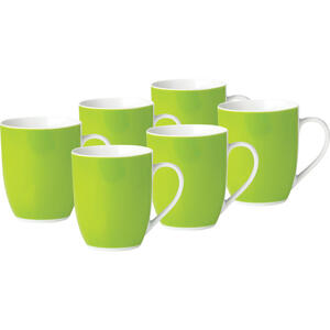 XXXLutz Kaffeebecherset 6-teilig keramik porzellan grün weiß  1345106