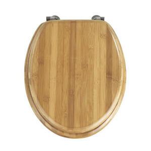 Wenko Wc-sitz braun  Bambus  Holz