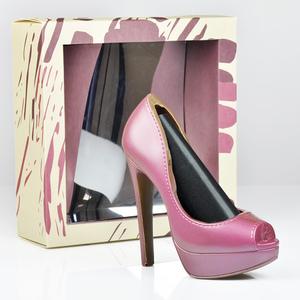 Schokoladen-High Heel Pink, 125g