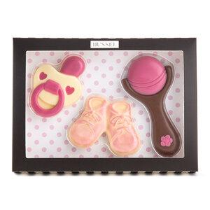 Schokoladen Baby-Set Mädchen, 105g
