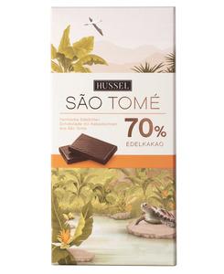 Edelbitterschokolade São Tomé 70% Kakao von Hussel, 100g Tafel