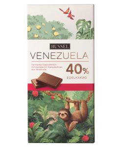 Edelbitterschokolade Venezuela 40% Kakao von Hussel, 100g Tafel