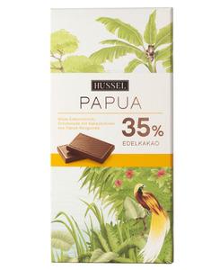 Edelvollmilchschokolade Papua 35% Kakao von Hussel, 100g Tafel