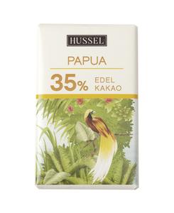 Edelvollmilchschokolade Papua 35% Kakao von Hussel, 7,5g Täfelchen