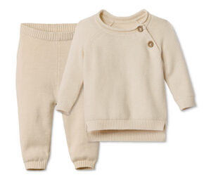 Baby Baumwoll-Strickkombi