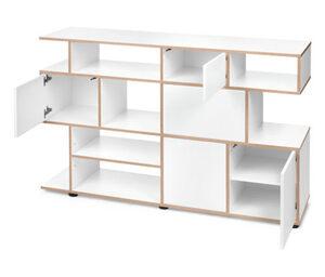 Bücherregal mit Echtholz-Multiplexkanten