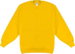 Fruit of the Loom Unisex-Sweatshirt  Uni langarm XXL