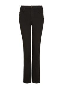 Damen Slim Fit: Bootcut-Jeans mit Nieten