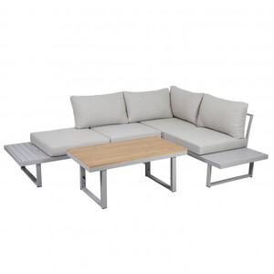 Greemotion Lounge-Set Aruba, Alu, grau