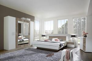 Schlafzimmer in Weiss Eichefarbe 'Franziska'