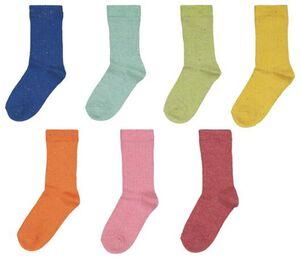 HEMA 7er-Pack Kinder-Socken, Gerippt, Noppen Bunt