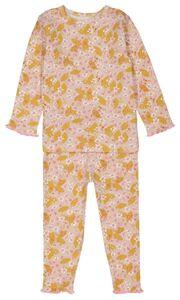 HEMA Baby-Pyjama, Blumen, Elastische Baumwolle Rosa