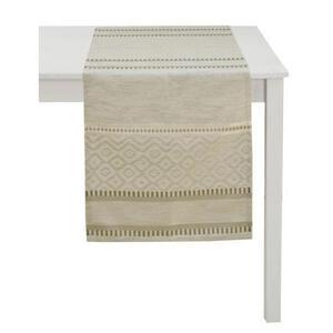 Ambiente Tischläufer textil jacquard beige 45/140 cm  Kitami  Abstraktes