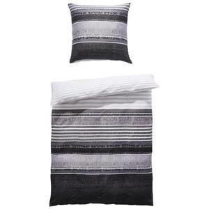 Janine Bettwäsche makosatin anthrazit  Palermo 3076-08  Textil