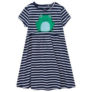 Mädchen Kleid mit Frosch-Applikation