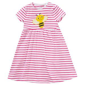 Mädchen Kleid mit Bienen-Applikation