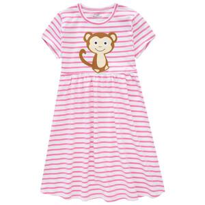 Mädchen Kleid mit Affen-Applikation