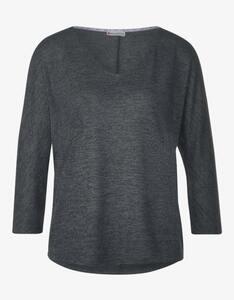 Street One - Shirt mit überschnittenen Schultern und 3/4-Ärmeln