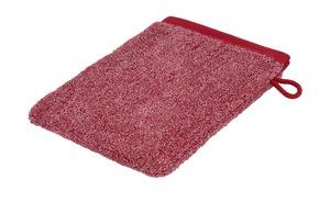 Ross Waschhandschuh  412 Melange - rot - 100% Baumwolle - Heimtextilien