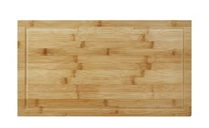 KHG Herdabdeckplatten, 2er-Set - holzfarben - Bambus - Küchenzubehör & Helfer