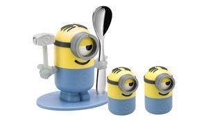 WMF Eierbecher-Set 4-teilig  Minions - Edelstahl, Kunststoff - Geschirr