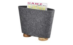 Zeitungsständer - grau - Filz - Aufbewahrung