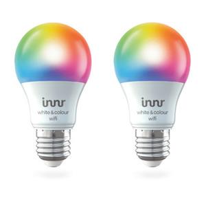 Innr WiFi Bulb Colour E27 2-pack RGBW, 806lm, Innr App