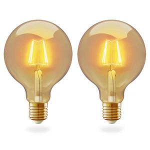 Innr WiFI Filament Bulb Vintage G95 E27 2-pack, 2200K, 350lm , Innr App