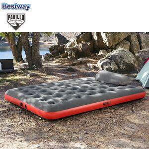 Bestway #67703 Pavillo Doppel-Luftbett mit Kissenpumpe Roll & Relax 203x152x22cm