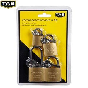 TAS Vorhängeschloss-Set 4-teilig