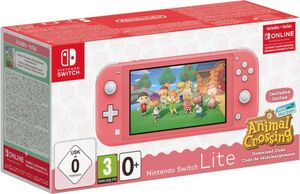 Nintendo Nintendo Switch Lite Koralle & Animal Crossing: New Horizons