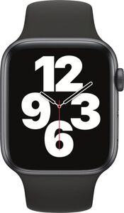 Apple Watch SE GPS, 44mm Alu schwarzes Armband - Regular