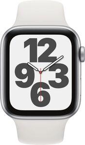 Apple Watch SE GPS, 44mm Alu weisses Armband - Regular