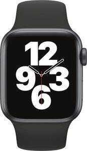 Apple Watch SE GPS, 40mm Alu schwarzes Armband - Regular
